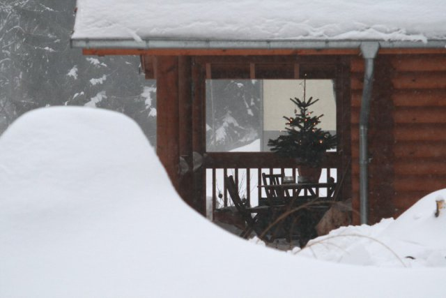 Veranda im Winter